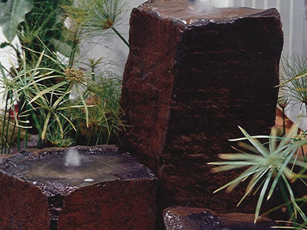 stone bubbler fountain